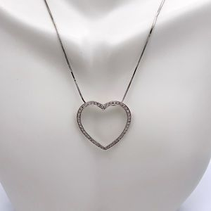 Jewelry - 14k White Gold .50ct Diamond Heart Shaped